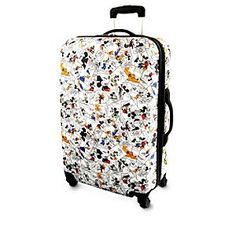 Disney Mickey Mouse and Friends Comic Strip Luggage - 26'' | Disney StoreMickey Mouse and Friends Comic Strip Luggage - 26'' - Carry the funny pages wherever you go with Mickey's large rolling suitcase clad in classic 1930s comic strip art. Functional features like hard-shell case, telescopic handle and in-line wheels will make all your travels lighthearted!