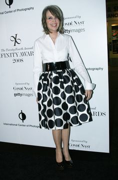 Another great example of Diane Keaton rocking a full skirt