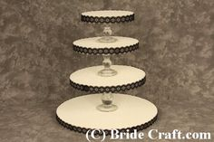 """... """"how to"""" make your own pretty wedding cake/cupcake stand :)"""