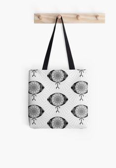 'The AyEye Mummy_Version01' All Over Print Tote Bag, print design by Asmo Turunen. #design #totebag #shoppingbag #atcreativevisuals