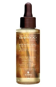 Free shipping and returns on ALTERNA® Bamboo Smooth Pure Treatment Oil at Nordstrom.com. What it is: An instantly absorbing treatment oil made with strengthening organic bamboo and smoothing organic kendi oil can be used as a treatment or style primer to banish frizz. Imparts intense shine while providing vital nutrients. With Color Hold® for maximum color retention.Who's it for: All hair types. Best for use on medium-to-thick hair types.What it does:As a Treatment:- Deeply nourishes and ...