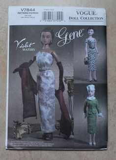Vogue Doll Collection Pattern V7844 - Gene Doll Clothes circa 1952-1953. 25.00, via Etsy.