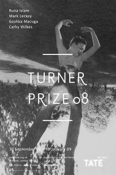 The Turner Prize 2008 exhibition poster.