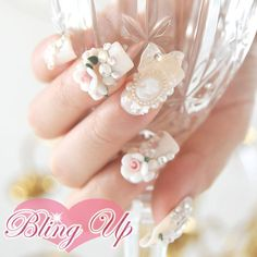 Japanese Nail Art Baroque Rococo Style 3D Nail Art on by blingup, $45.99