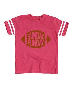 Another great find on #zulily! Hotpink 'Sunday Funday' Football Tee - Toddler & Kids by Sporteez #zulilyfinds