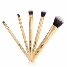 Women Fashion Brushes 5PC Wooden Eyeshadow Brush Makeup Brush Sets Tools Gift