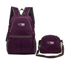 66049a01cc75 2016 туристические рюкзаки нейлон портативный молния складной soild bagpack  женщины ежедневно школьные сумки для повседневной путешествия