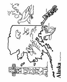 State Coloring Pages (maps, stamp, coin)