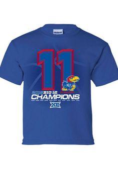 Kansas Basketball, Basketball Teams, Go Ku, University Of Kansas, Gear Shop, Kansas Jayhawks, Kids Clothing, Short Sleeve Tee, Color Blue
