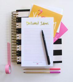 Brilliant Ideas Foil Notepad