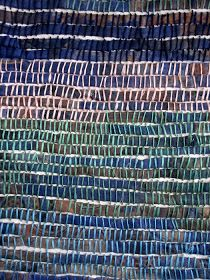 Judy's Journal: the pulse, the flow of time one skein of embroidery floss each day