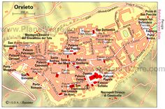 Map of Orvieto Tourist Attractions | PlanetWare