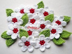 flores de crochet | Flores feitas com expiração de uma artista,retirei da web, Adorei ...