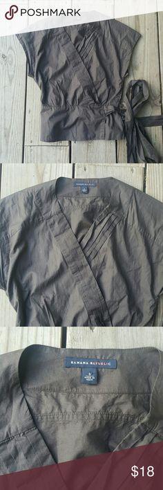Banana Republic wrap blouse 100% cotton, small, wrap around Banana Republic Tops Blouses
