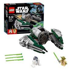 Jedimeester Yoda's Starfighter is het perfecte schip voor lange ruimtereizen naar verre planeten. Plaats Yoda in de cockpit en neem R2-D2 mee aan boord. Vouw dan de vleugels, laad het boordgeschut en kom in actie! Afmeting: verpakking 26 x 19 x 6 cm - LEGO Star Wars 75168 Yoda's Jedi Starfighter