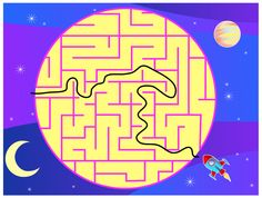 Wee Kids Mazes #puzzle #kids #app #colorful #education  #moon #planets  #kid #preschool #labyrinth #moon #Mazes  #ipad #iphone #android #iOS #Windows