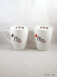 Hochzeitsgeschenk für MR & MRS Hochzeit Tassen