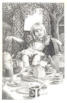 Alice at the tea table by maryanne42 (Alice at the mad tea party ... more tea party than Alice though!)