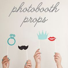 We have FREE print/cut files and FREE Cricut Explore files for you to download and use to make your own photo booth props! So easy, check it out!