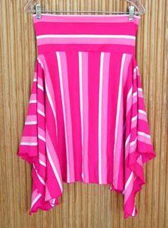 Striped Skirt Tutorial - CLOTHING