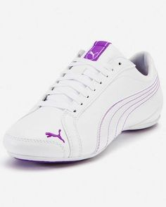 Puma shoe, dance trainer shoe, purple, white  Get your discounts and coupon codes to Puma here  http://www.thriftymoment.com