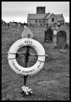 "Grave Of A Cabin Boy The grave of Italian cabin boy Domenico Catanese at the Church of St Materiana, Tintagel, Cornwall. On 20th December 1893 the barque ""Iota"" was driven against the cliff at Lye Rock. The crew were able to get onto the rock and all apart from the 14 year old were saved."