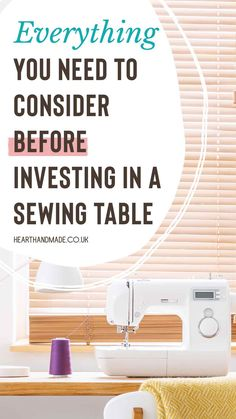 questions to ask before investing in a sewing table