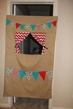 Doorway Puppet Theater with Storage Bag by HurstEmbroidery on Etsy
