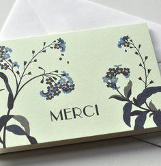 "Small greeting card ""Merci"" – Haferkorn & Sauerbrey"