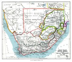 Map of South Africa showing British Possessions, July 1885 Geographical Magazine, South Africa Map, Old Maps, Africa Travel, Timeline Photos, Land Scape, Rugs On Carpet, Vintage World Maps, Poster Prints