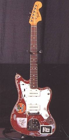 One of Thurston Moore's Jazzmaster guitars