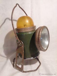 Linterna antigua, años 40-50. (Antigüedades - Iluminación - Faroles Antiguos)