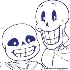 Undertale Trio Frisk Sans And Papyrus By Chiherah Coloring Pages Printable Book To Print For Free Find More Online Kids