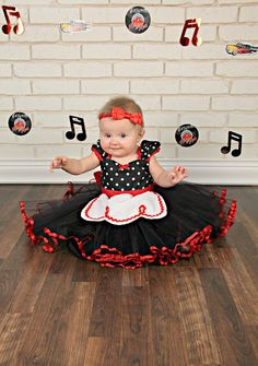 I Love lucy dress Retro Polka Dot tutu dress apron dress with RED trim ROCKABILLY girls toddler infant fifties style dress 50s by loverdoversclothing on Etsy https://www.etsy.com/listing/223891366/i-love-lucy-dress-retro-polka-dot-tutu