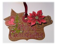 Christmas mini-card, with a Victorian look.