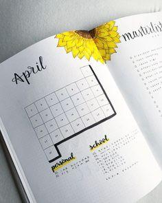 Bullet Journal Layout für die Monatsübersicht