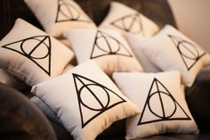 Deathly Hallows Cushion (for my brother, subtle & graphic decoration hp style)