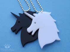 Unicorn nacklace - Black & White | Flickr - Photo Sharing!