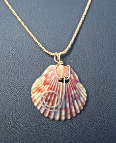 Gold Scallop Pendant From Florida by SilverSunStudio on Etsy