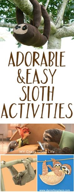We've all fallen in love with the adorable sloth named Flash from Zootoipa right? Here are some fun Sloth Activities to do at home! Summer Camp Crafts, Camping Crafts, Party Activities, Activities For Kids, Learning Activities, Preschool Crafts, Crafts For Kids, Birthday Party Games, Amigurumi
