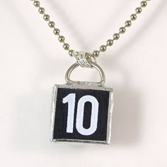 Number 10 Pendant Necklace by XOHandworks $20