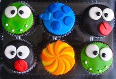 Cut the rope cupcakes by Carmen Latorre