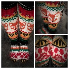 Gloves, Fox, Arts And Crafts, Knitting, Winter, Knits, Breien, Winter Time, Tricot