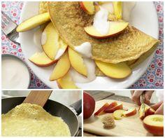 Süßer Sattmacher in fruchtig-frischer Begleitung : Hirse-Omelett mit Nektarinen…