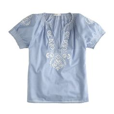 Baja Embroidered Top by J.Crew