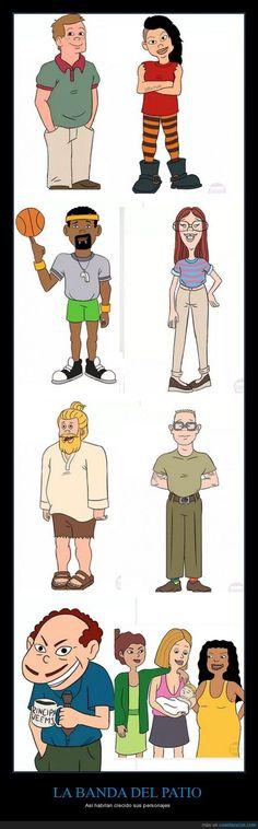 LA BANDA DEL PATIO - Así habrían crecido sus personajes
