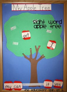 Apple FUN for kindergarten! Including Apple Sight Word Activity from The Educators' Spin On it