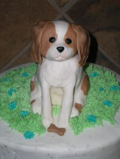Cavalier King Charles Spaniel Puppy Birthday Cake By Justforfun751 on CakeCentral.com
