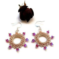 Rose Gold 'Halo' Crystal Earrings £11.00