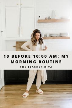 10 Before 10:00 AM: My Morning Routine | The Teacher Diva #wellness #morningroutine #lifestyletips Wellness Tips, Health And Wellness, Teacher Diva, Healthy Style, Fitness Motivation Pictures, How To Make Coffee, How To Wake Up Early, Ocd, How To Stay Motivated